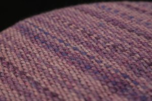 Purple weave showing texture